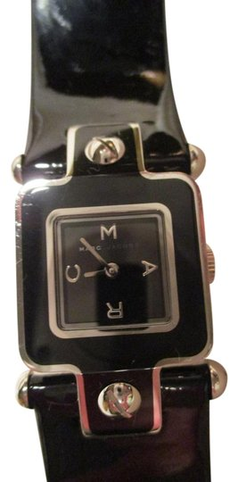Preload https://img-static.tradesy.com/item/18533086/marc-by-marc-jacobs-black-and-silver-patent-leather-band-watch-0-2-540-540.jpg