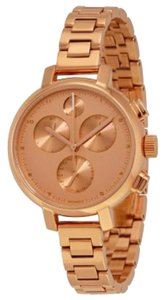 Movado Rose Gold Dial Stainless Steel Designer Ladies Casual Dress Watch