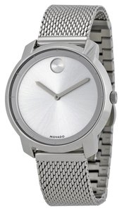 Movado Silver Stainless Steel Mesh Strap Designer Ladies Dress Watch