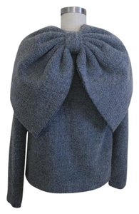 Isaac Mizrahi Bow Runway Grey Jacket