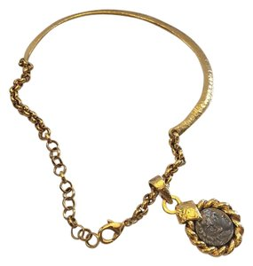 Jose & Maria Barrera JOSE & MARIA BARRERA NWT 24K GOLD PLATED COLLAR & PENDANT NECKLACE