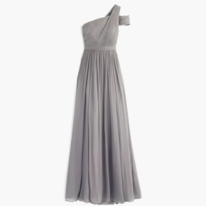 J.Crew Graphite Cara Long Dress In Silk Chiffon Dress