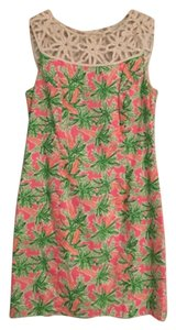 Lilly Pulitzer short dress Pink, Green, White, Orange Party Summer on Tradesy