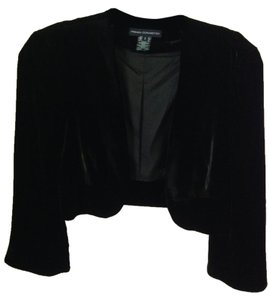 French Connection Velvet Evening Party Top Black