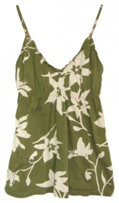 Preload https://item1.tradesy.com/images/american-eagle-outfitters-olive-green-and-white-floral-tank-topcami-size-6-s-185335-0-0.jpg?width=400&height=650