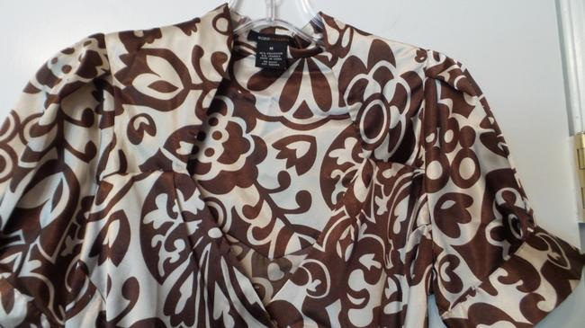 BCBGMAXAZRIA Bcbg Medium Silky Wrap New Top Brown & off-white Image 7