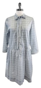 Burberry short dress Light Blue Plaid Cotton Shirt on Tradesy