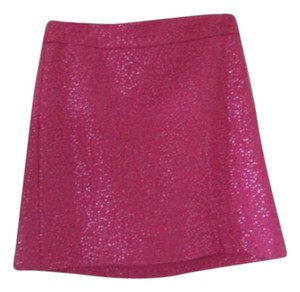 Ann Taylor LOFT Sequined Pink Skirt Pink Sequined