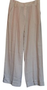 Elie Tahari Beach Sand Loose Relaxed Cover-up Wide Leg Pants Beige