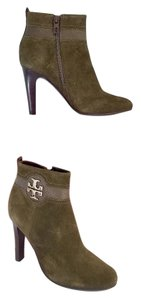 Tory Burch Olive Suede Boots