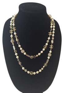 Chanel CHANEL NWT DOUBLE STRAND FAUX PEARL, BEADS & MULTICOLOR STONE NECKLACE