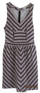 Maison Jules short dress Pink with black stripes Office on Tradesy