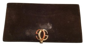 Gucci Vintage Gucci Wallet Brown Suede