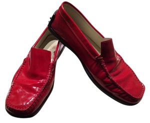 Tod's Patent Leather Red Flats