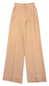 Fendi Camel High Waisted Wide Leg Pants