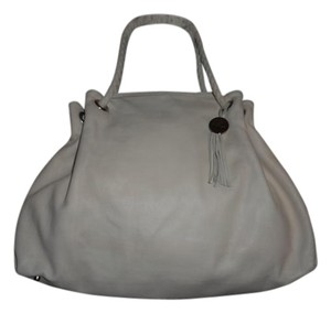 Furla Leather Shoulder Tote in Ivory