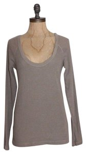James Perse Thermal Knit Top BEIGE