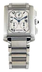 Cartier Tank Francaise 2303 Swiss Quartz Stainless Steel 28mm Watch