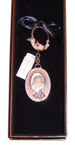 Jay Strongwater JAY STRONGWATER KEY CHAIN WITH STONES AND ENAMEL PICTURE FRAME