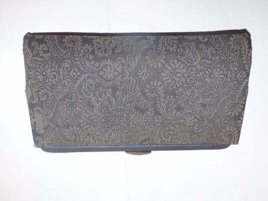 Other Early-mid 20th Cen. Perfect Evening Foldable Hard Handle Clutch/Handle Held High-end Evening grey and steely blue Clutch Image 3