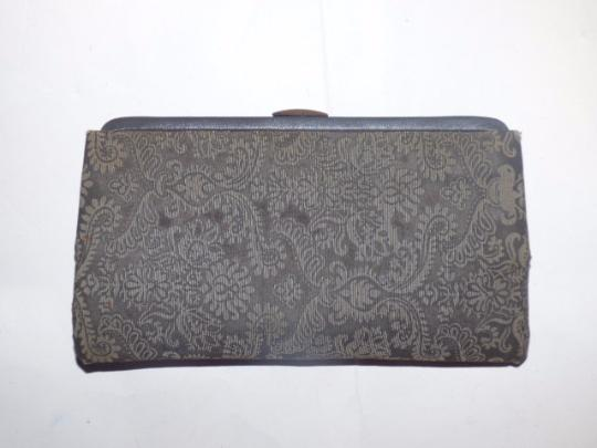 Other Early-mid 20th Cen. Perfect Evening Foldable Hard Handle Clutch/Handle Held High-end Evening grey and steely blue Clutch Image 4