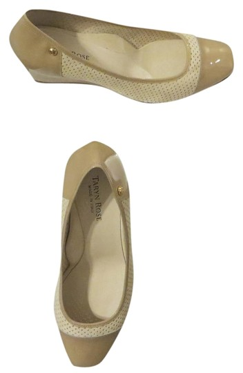 Taryn Rose Patent Leather New Beige Wedges Image 0