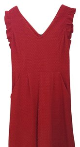 Anthropologie short dress Red coral on Tradesy