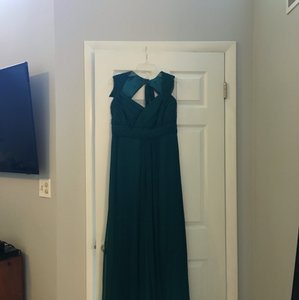 Amsale Teal X Dress