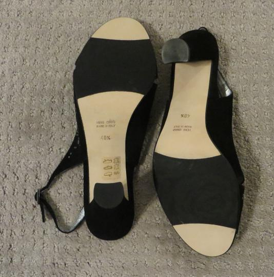 Taryn Rose New Italy Suede Black Pumps Image 1