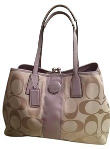 Coach New Without Tag Satchel in SV/Beige/Lavender