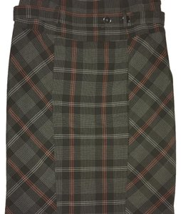 B. Moss Skirt Unique brown plaid