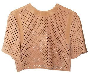 3.1 Phillip Lim Brand New Crop Fashion Leather Top Camel