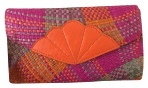 Other Vintage Beachy orange, pink, teal Clutch