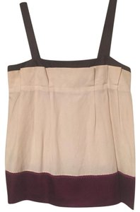 MINT Jodi Arnold Top Off-white, magneta and brown