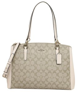 Coach Double Zip Signature Shoulder Bag