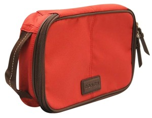 Coach Travel Men's Gift New Leather Persimmon Travel Bag