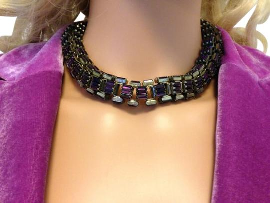 Preload https://img-static.tradesy.com/item/18535900/lee-angel-purple-baguette-crystal-necklace-0-1-540-540.jpg
