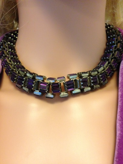 Lee Angel Baguette Crystal Necklace