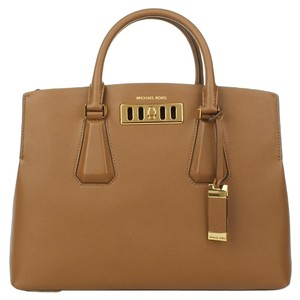 Michael Kors Collection Luggage Vivian Satchel in Brown