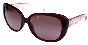 Coach Coach Women's Sunglasses Burgundy Pink Crystal
