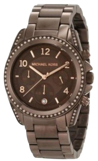 Preload https://img-static.tradesy.com/item/18536125/michael-kors-brown-espresso-brown-pave-glitz-swarovski-crystals-chronograph-watch-0-1-540-540.jpg