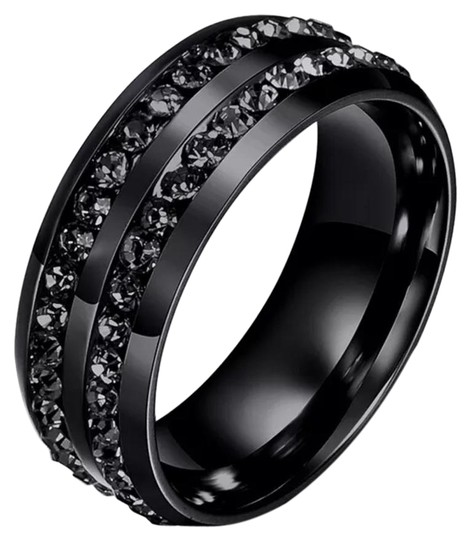 Preload https://img-static.tradesy.com/item/18536191/black-new-stainless-steel-double-row-onyx-band-8-9-ring-0-1-540-540.jpg