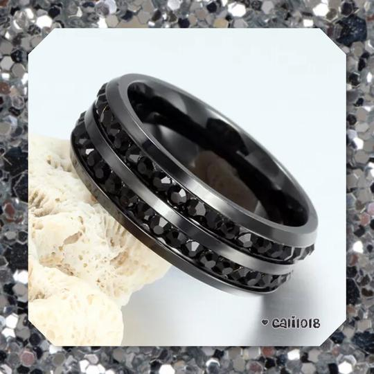 Other New Stainless Steel Double Row Black Onyx Band 8, 9