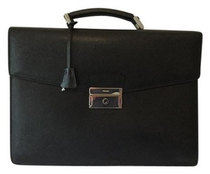 Prada Briefcase Leather Tote Laptop Bag