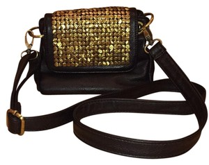 Urban Outfitters Gold Brass Tacks Roomy Cross Body Bag