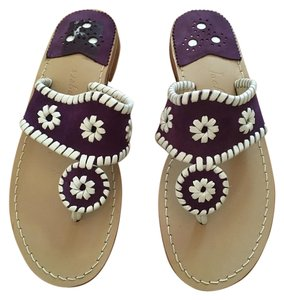 Jack Rogers Purple, White Sandals