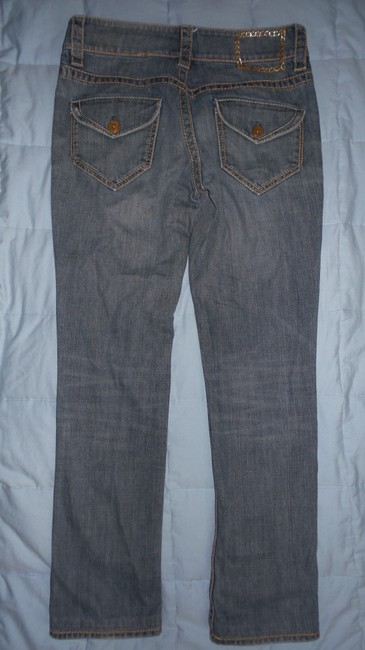 Elie Tahari Straight Leg Jeans-Medium Wash Image 2