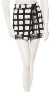 Proenza Schouler Cotton Mini Print Mini Skirt Ikat