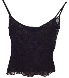 Le Donne Di... Netting Lingerie Festival See-through Top Black