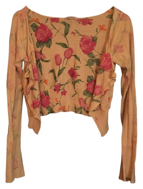 Preload https://img-static.tradesy.com/item/18537451/laurie-b-knitwear-yellow-floral-cardigan-size-6-s-0-1-650-650.jpg